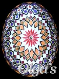 Intricate geometric design. Egg Art.